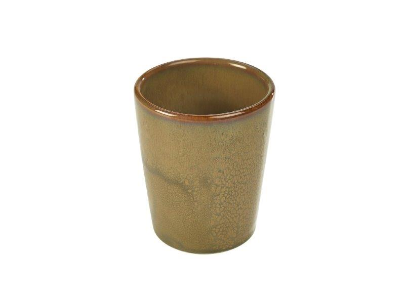 Terra Stoneware Rustic Brown Conical Cup 10cm