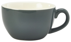 Genware Porcelain Bowl Shaped Cup 17.5cl/6oz Grey