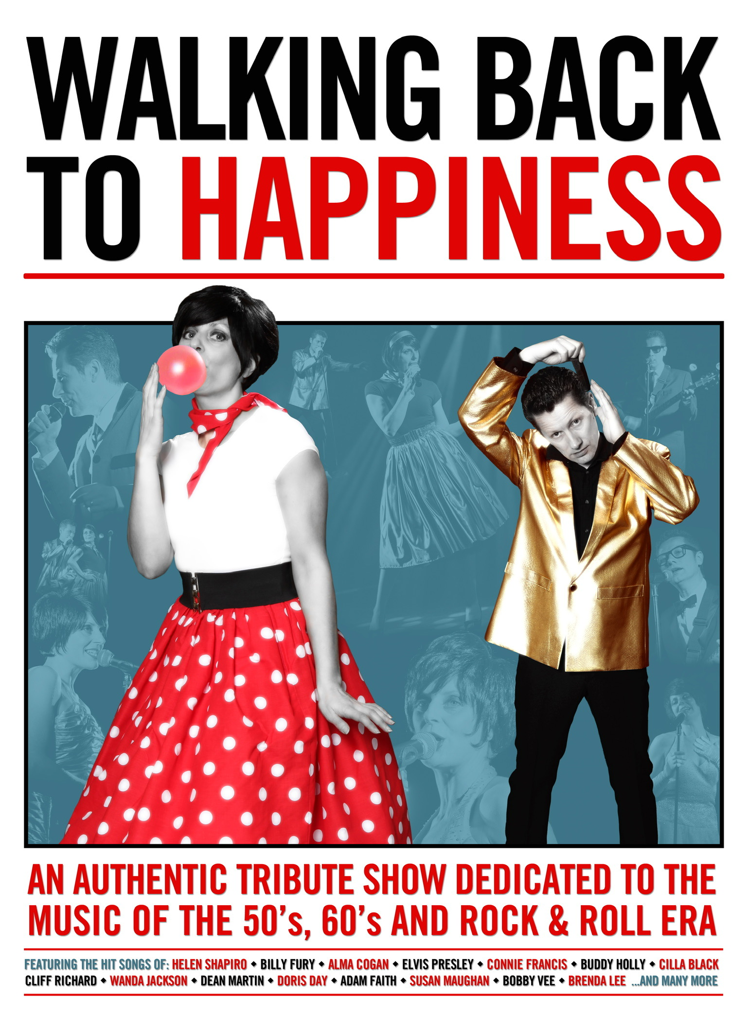 Walking Back To Happiness 50/60's Show - Sat 28th March 2020