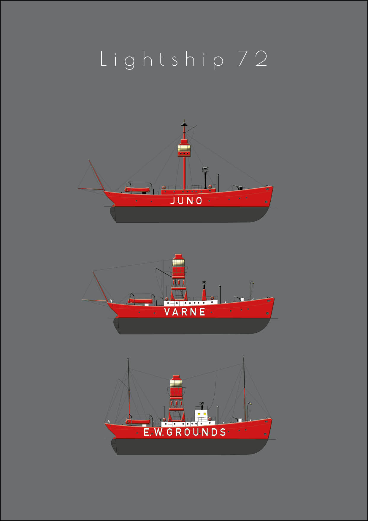 Lightship 72 - Single postcard