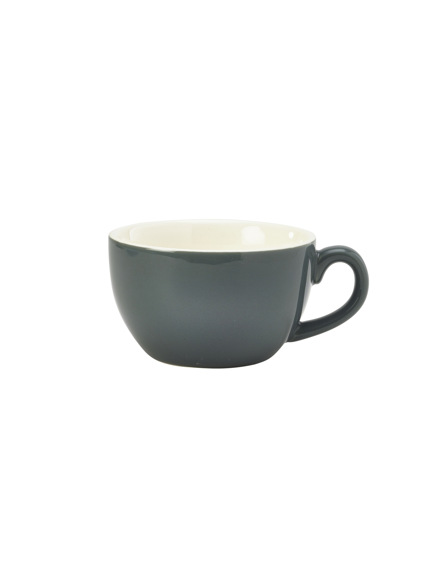 Genware Porcelain Bowl Shaped Cup 25cl Grey