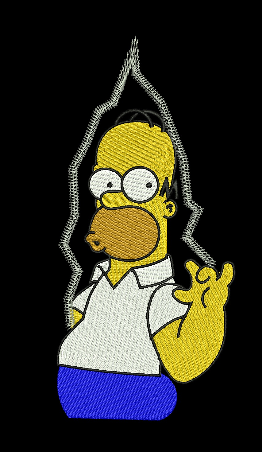 homer simpson the Simpsons logo embroidered clothing   T-shirts, polos, hoodies, fleeces, jackets, hats, & badges,  embroidery machine designs