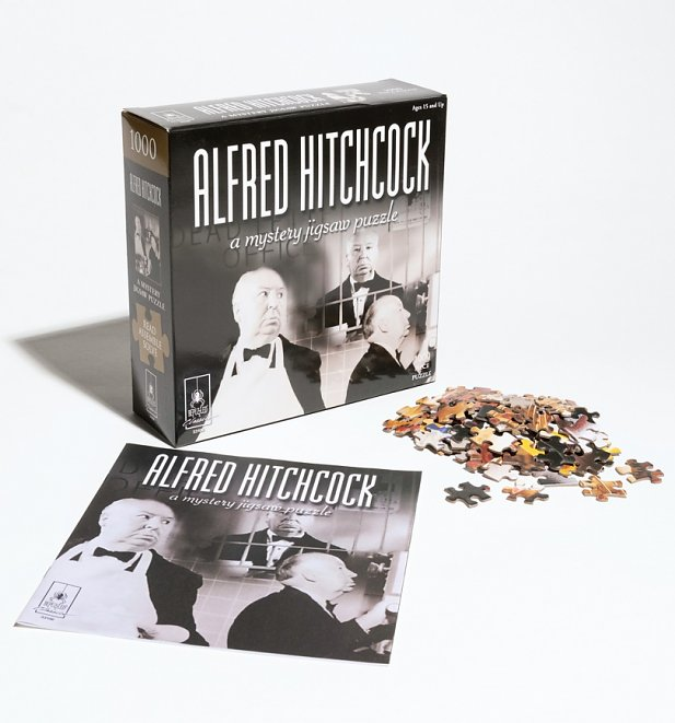 1000 Piece Classic Mystery Jigsaw Puzzle - Alfred Hitchcock