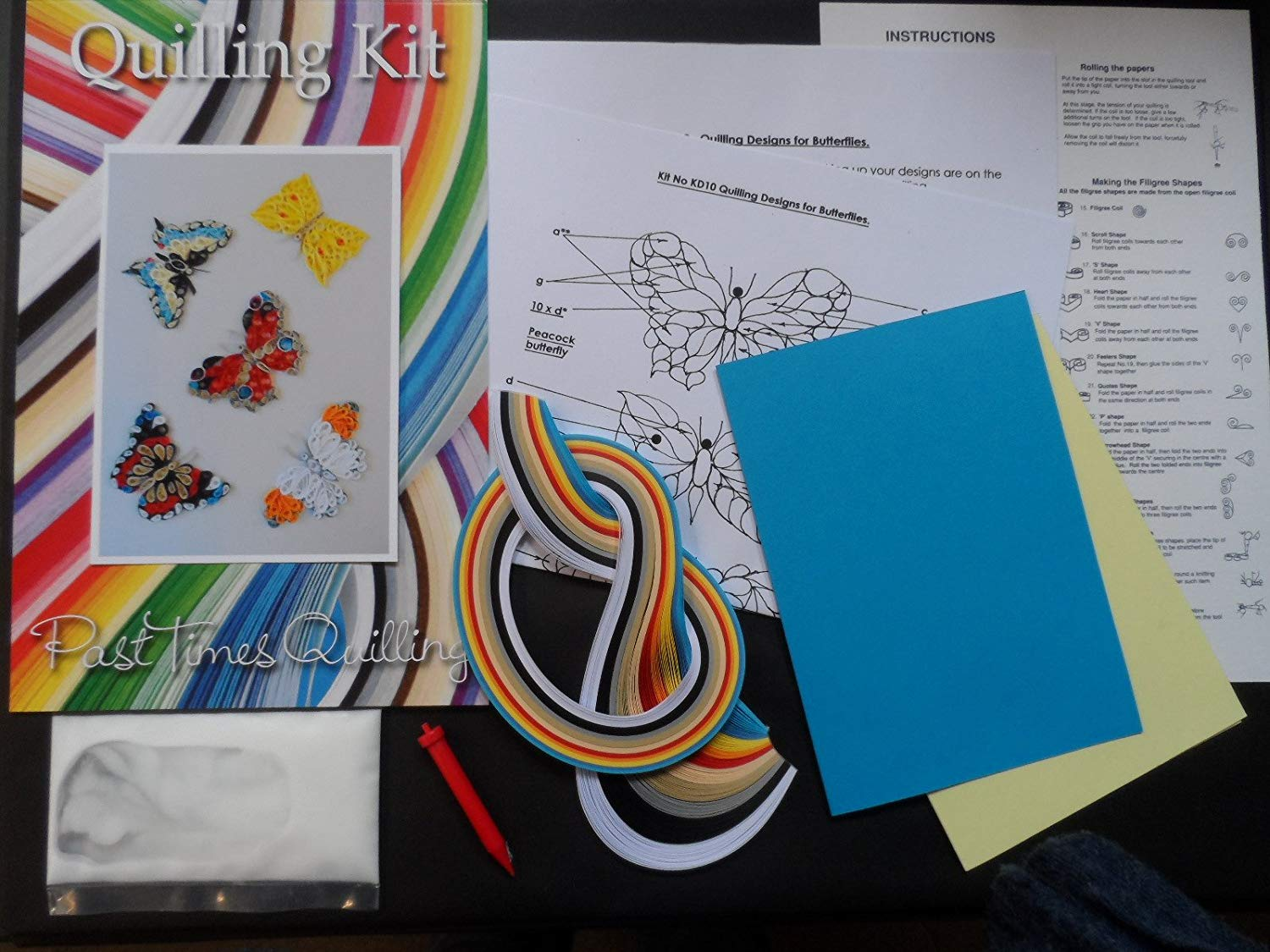 Quilling Kit - Designs for Butterflies
