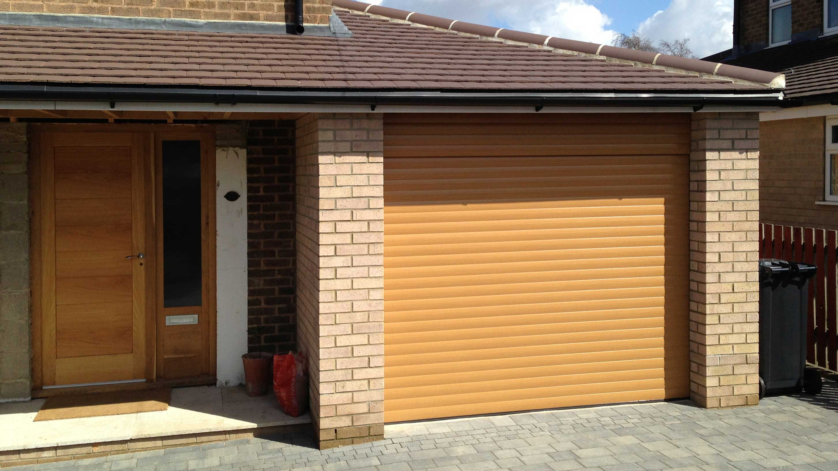 Light Oak roller door