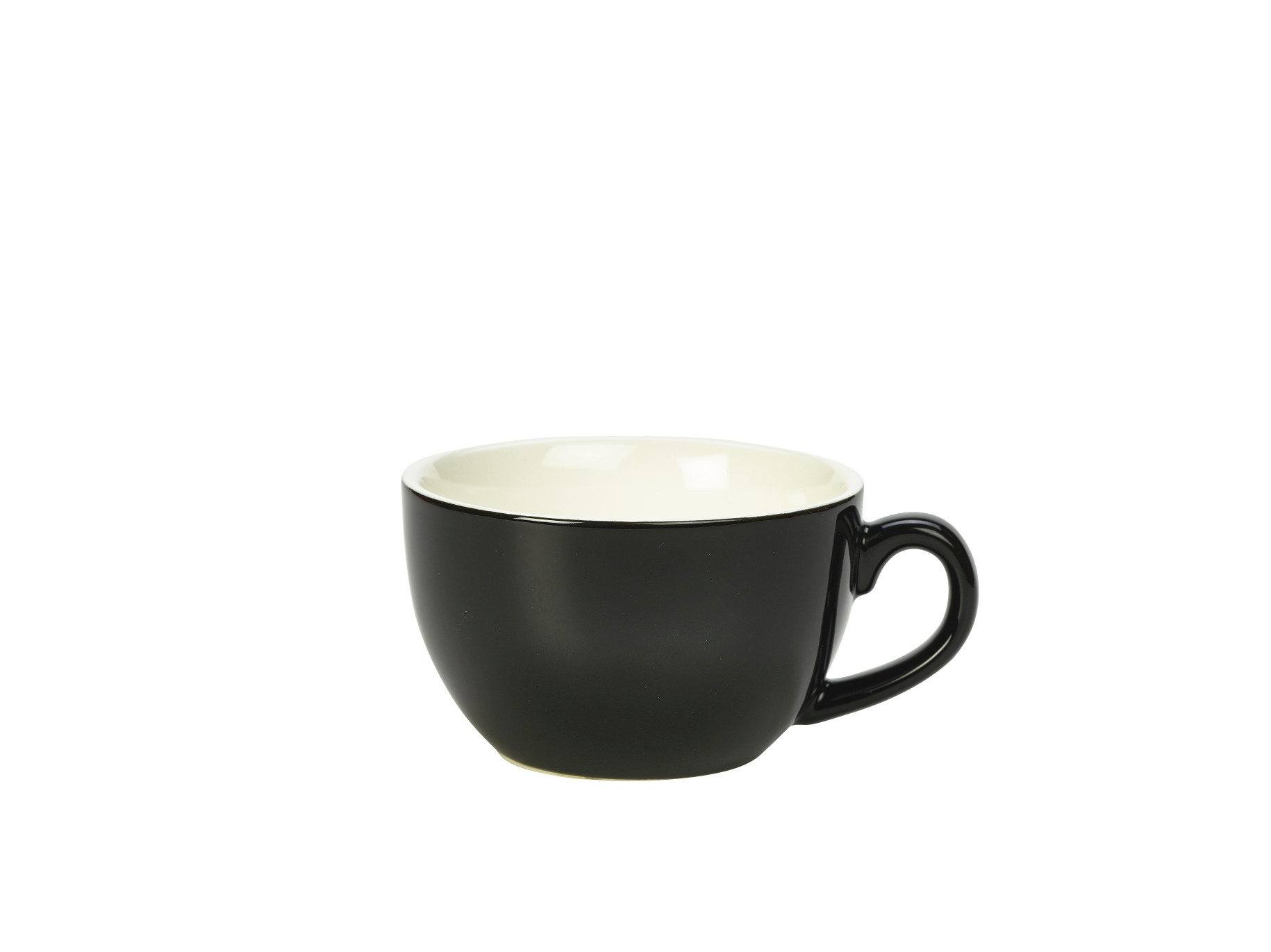 Genware Porcelain Bowl Shaped Cup 25cl Black