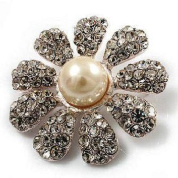 Small pearl brooches - daisy mae pearl flower brooch 35 mm