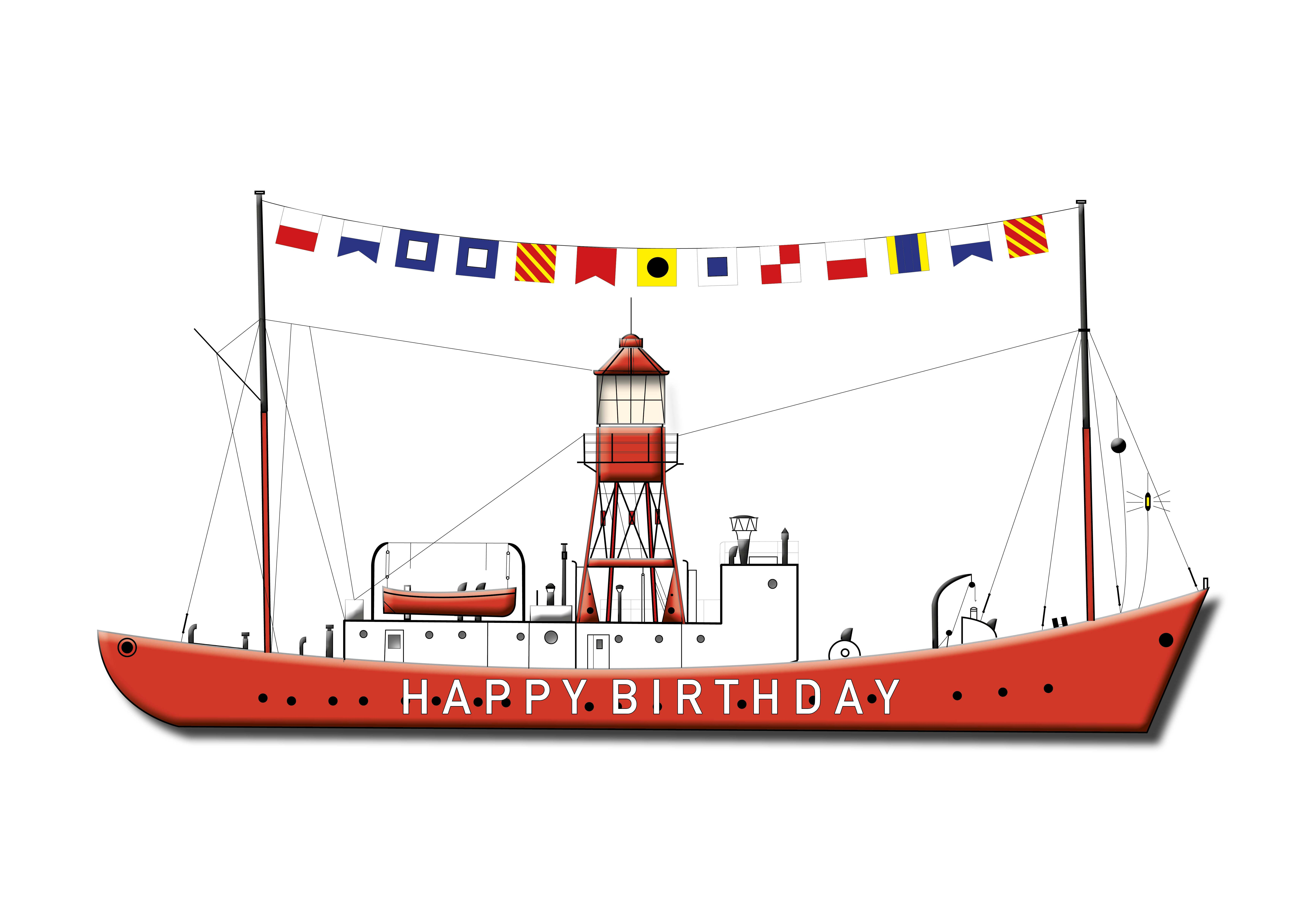 Happy Birthday Lightship - Single Card