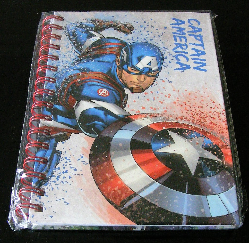 A5 hardback Captain America retro notebook