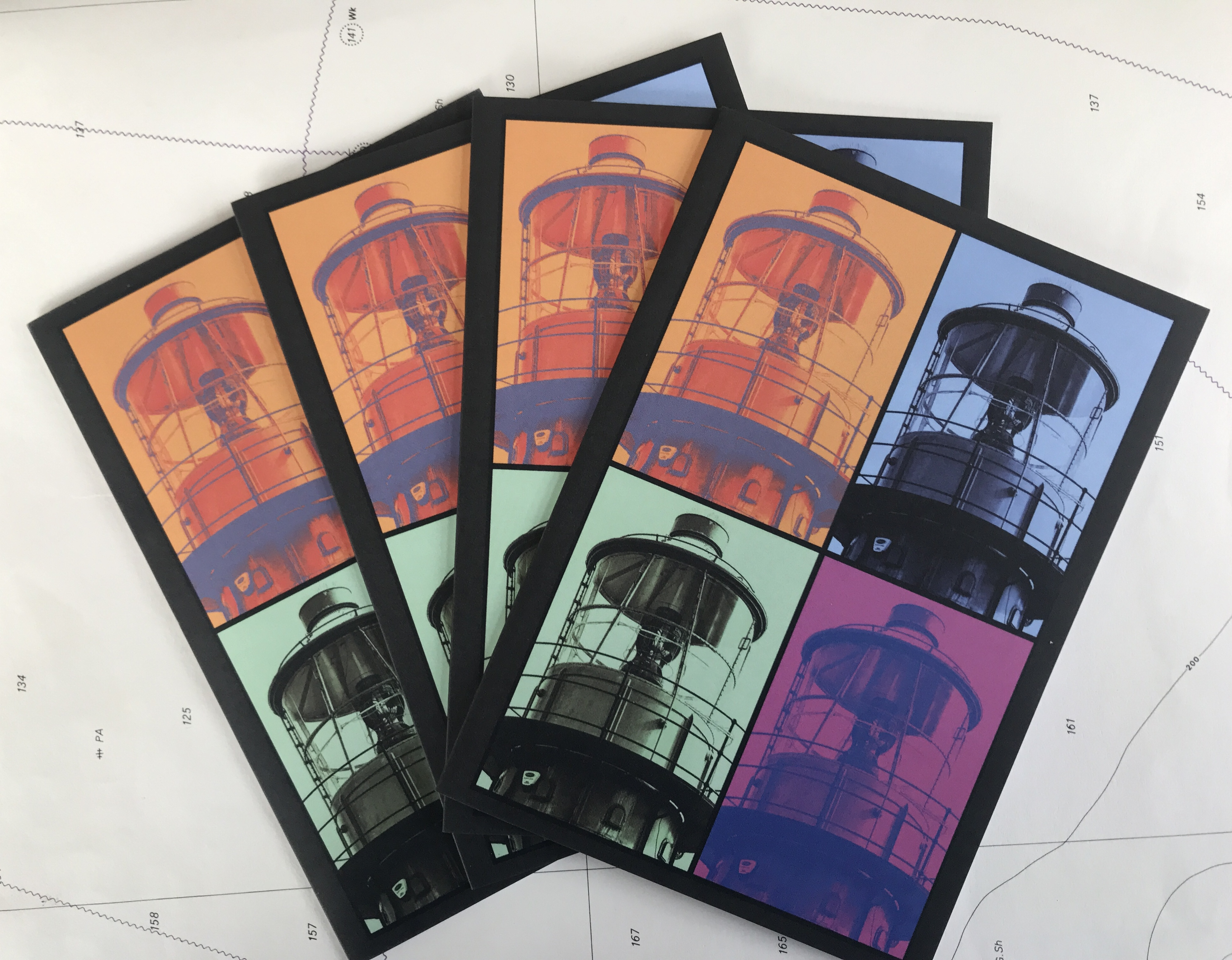 Lightship Pop-Art - set of 4 greetings cards