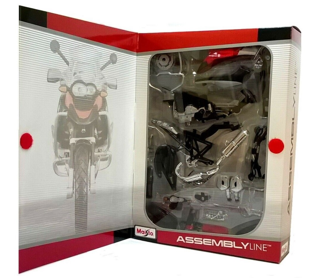 BMW R1200 GS - 1:12 Scale Die-Cast with Plastic Parts R1200GS Motorbike Kit by Maisto