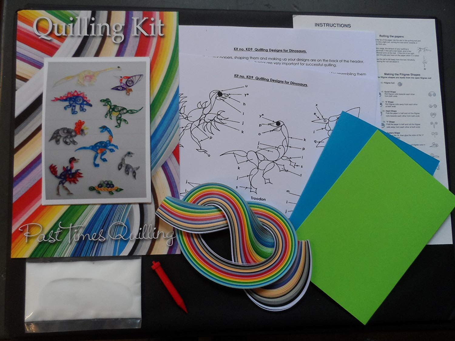 Quilling Kit - Designs for Dinosaurs