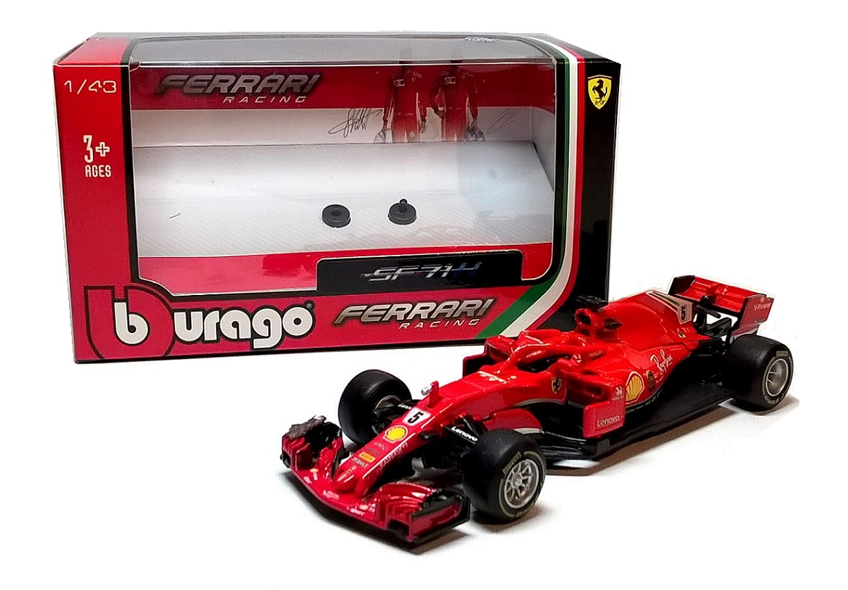 2018 FERRARI SF71H #5 Vettel - 1:43 Die-cast F1 Car Model by Burago