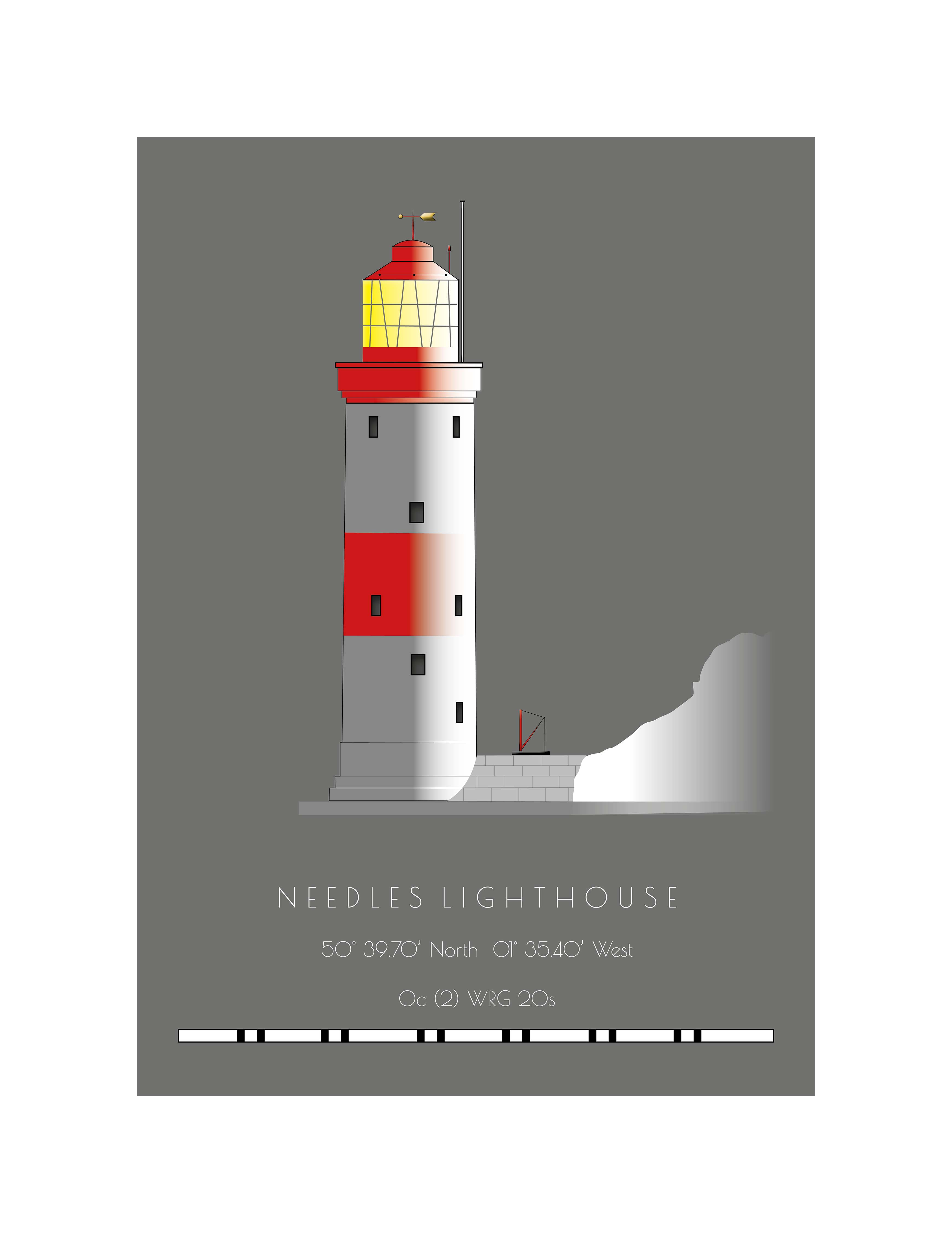 Needles Lighthouse - Single Postcard