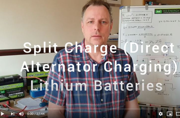 Wiring calculations for alternator split charging lithium batteries pt. III