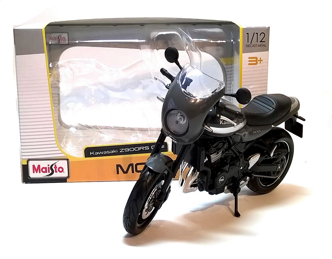 KAWASAKI Z900RS CAFE in Grey - 1:12 Die-Cast Motorbike Model by Maisto