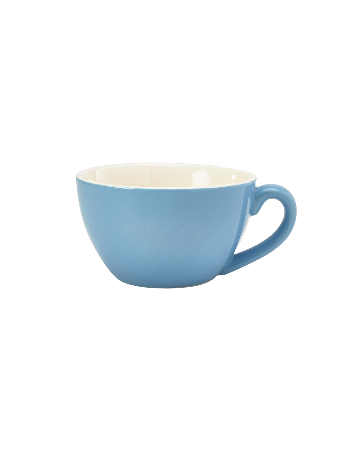 Genware Porcelain Bowl Shaped Cup 34cl Blue