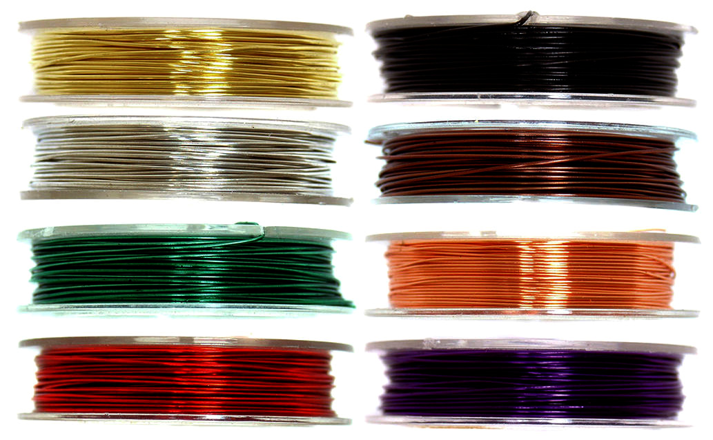 Coloured Brass Wire, 5m x 0.5mm