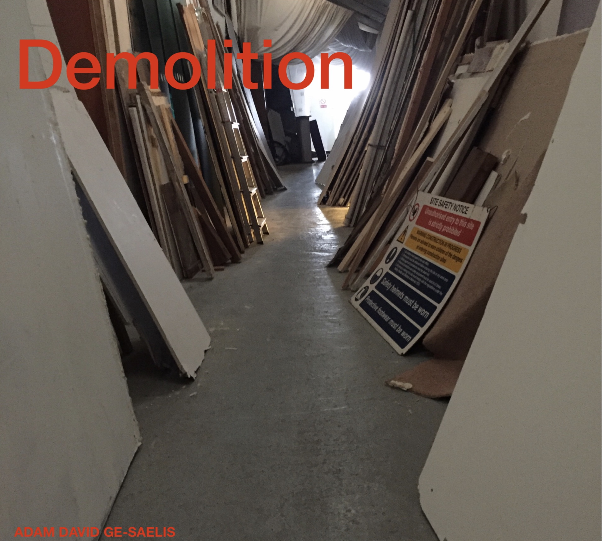 Components of demolition fill the exhibition space