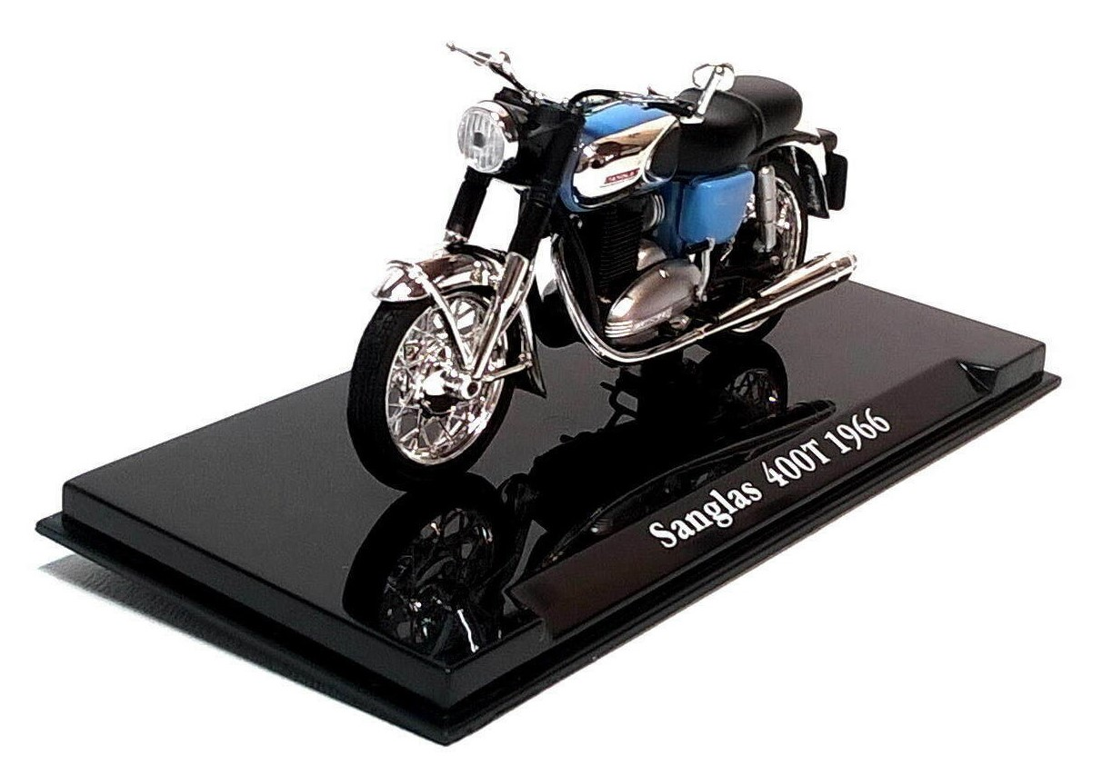 1966 SANGLAS 400T in Blue - 1:24 Scale Die-Cast Classic Motorbike Model by Atlas