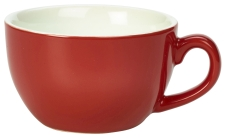 Genware Porcelain Bowl Shaped Cup 17.5cl/6oz Red