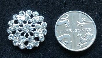 FLAT BACK 16 mm diamante  flower embellishment