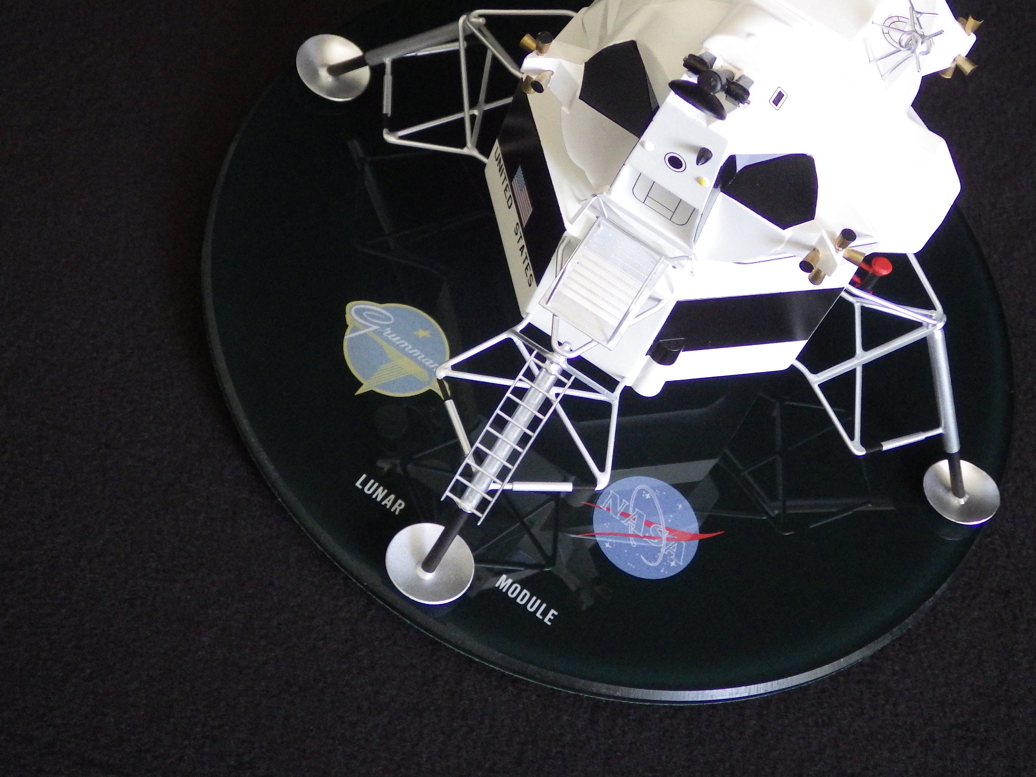 1966 Grumman LEM Contractors Model. Perspex Base