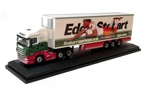 SCANIA HIGHLINE FRIDGE TRUCK - CATALAN DRAGONS RUGBY - 1:76 Die-Cast Lorry Model by Oxford