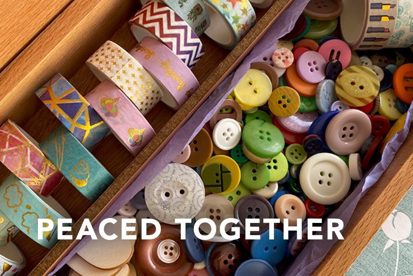 Peaced Together button