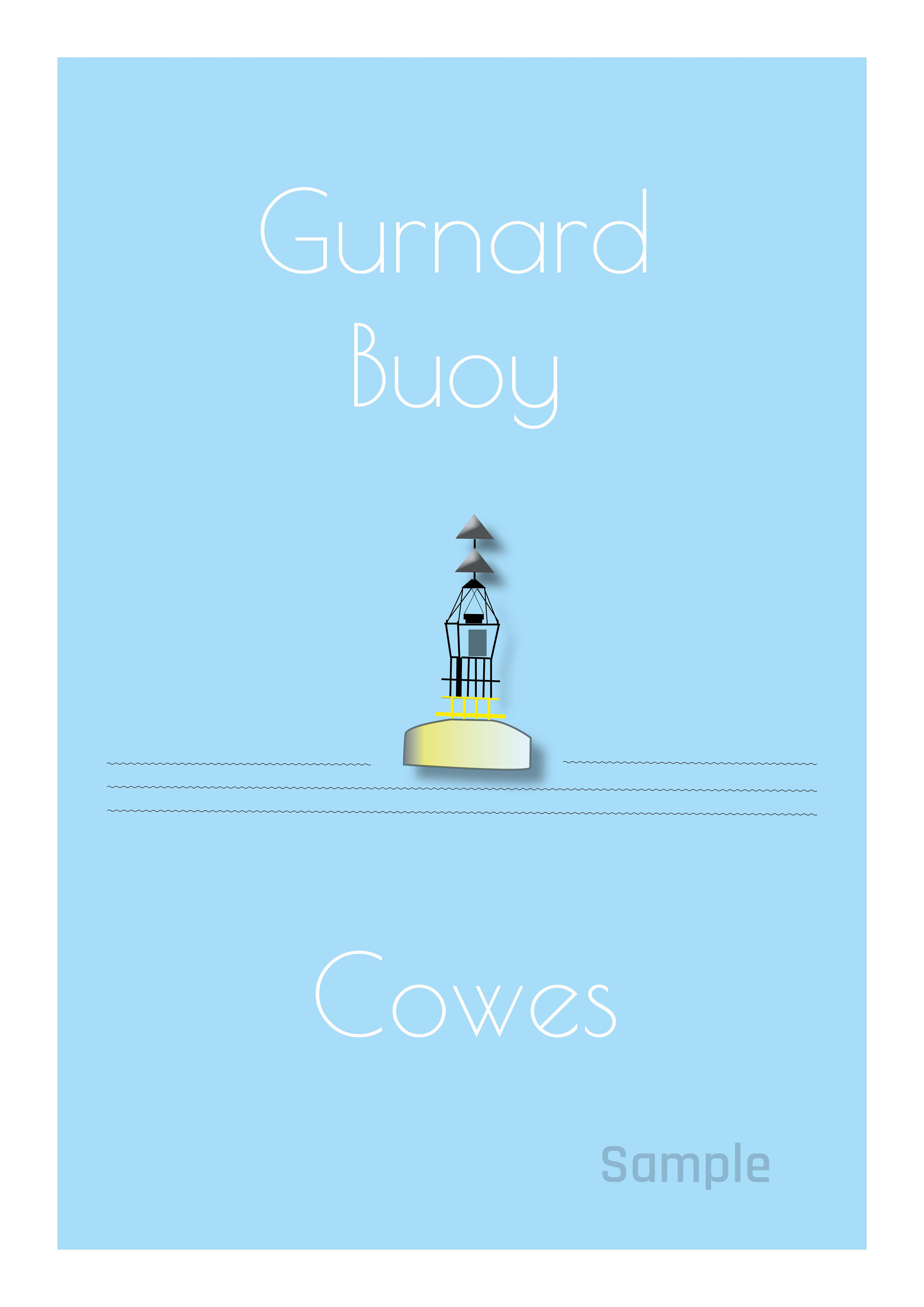 Gurnard Buoy - Illustration single postcard
