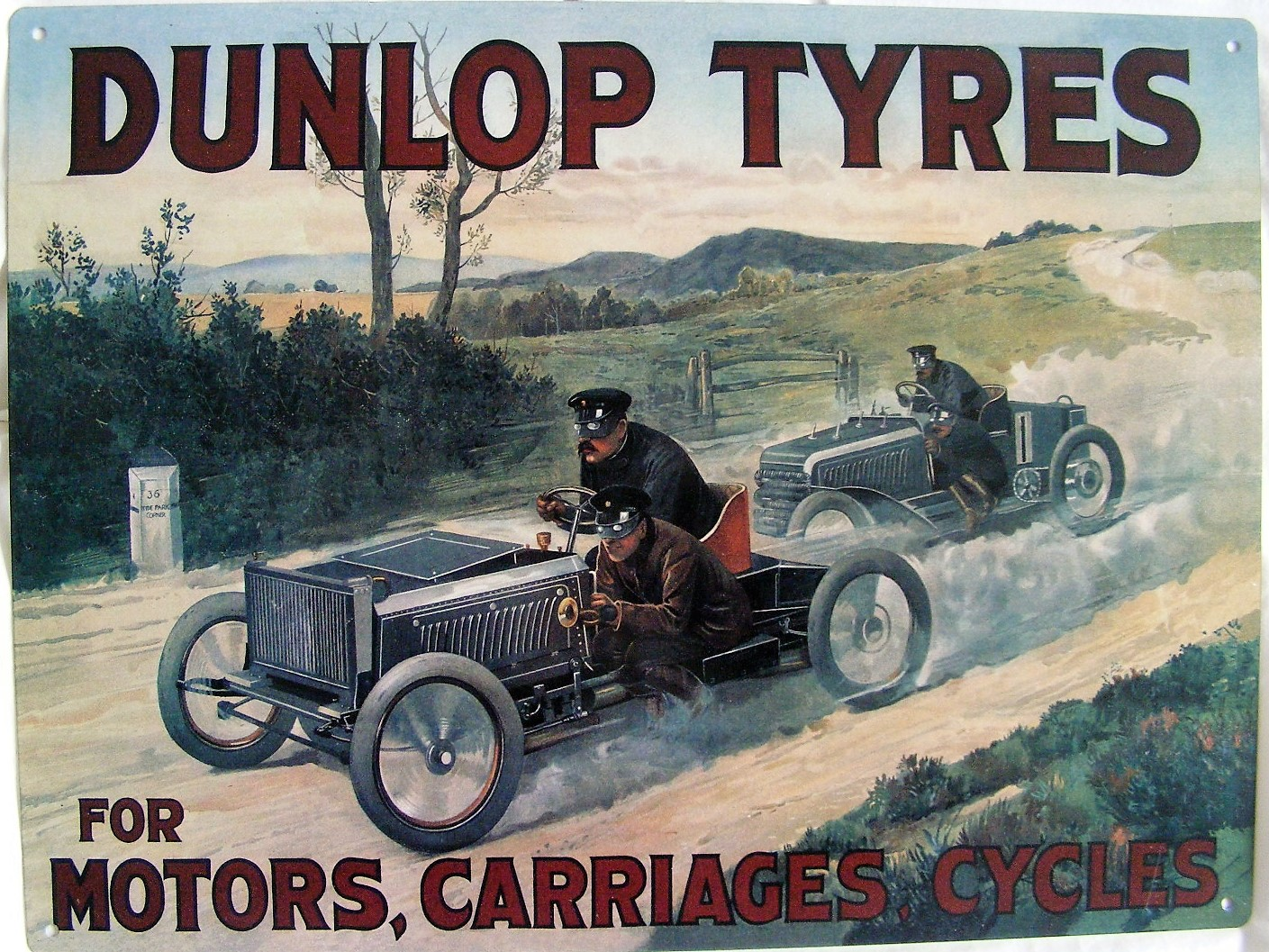 Dunlop Tyres Robert Opie A3 steel sign