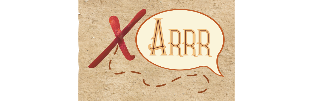 X Arrr! logo. A board game in development by Keith McLeman for Cardboard And Coffee Games.
