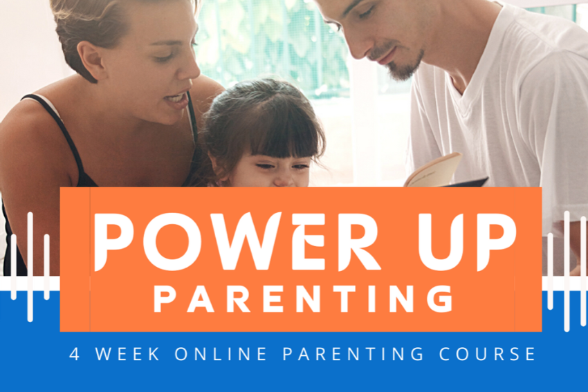 Power-up Parenting button
