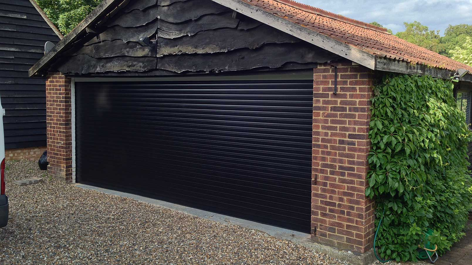 Double Black Roller Garage Door