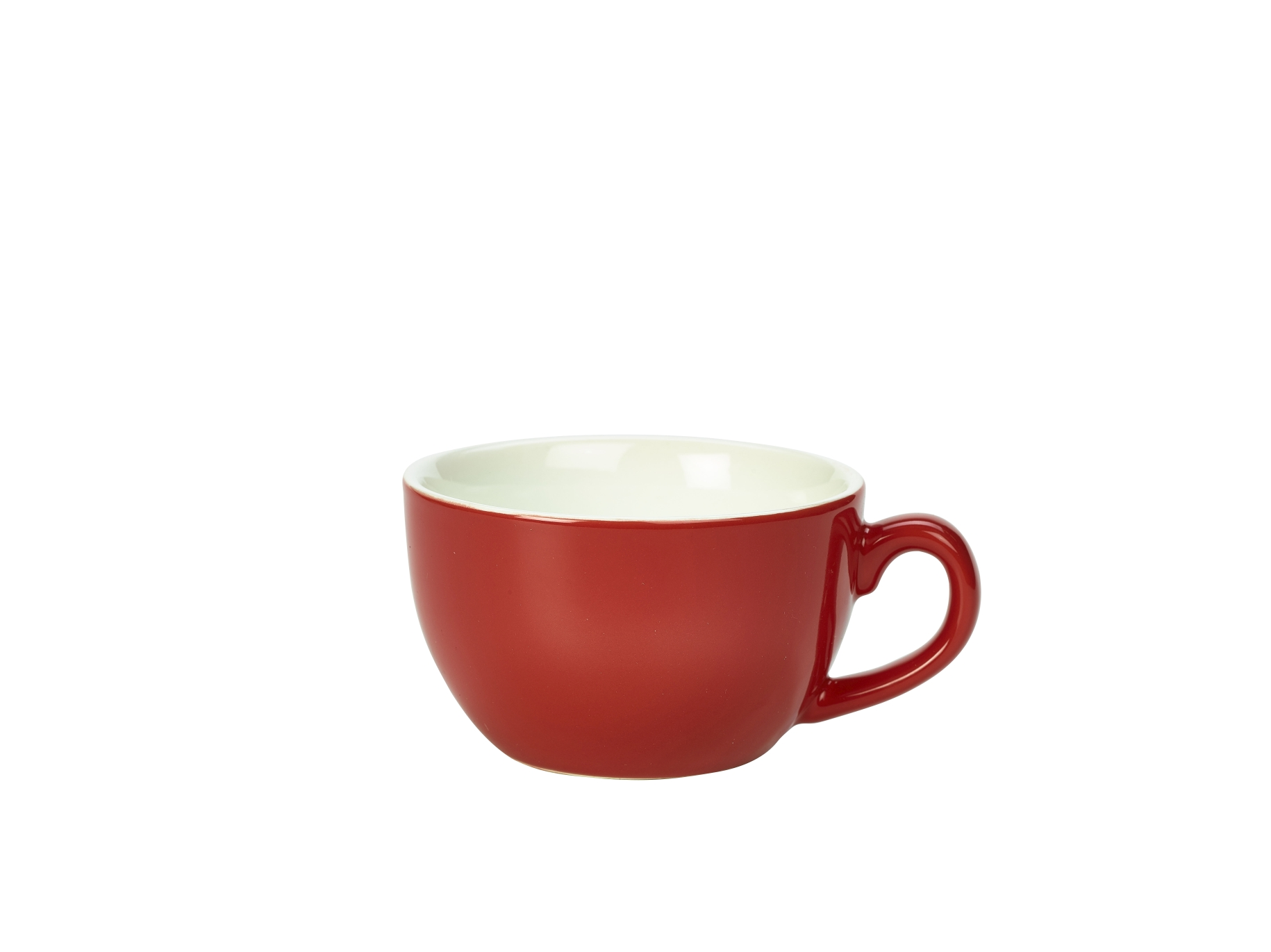 Genware Porcelain Bowl Shaped Cup 25cl Red