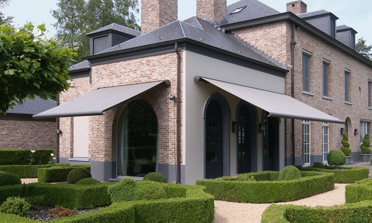 2 Opal Design Awnings in Dark Beige