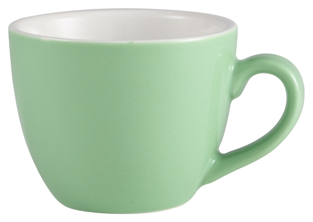 Genware Porcelain Bowl Shaped Cup 9cl Green