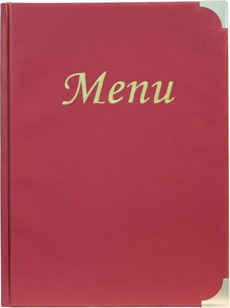 A5 Menu Holder Wine Red 8 Pages
