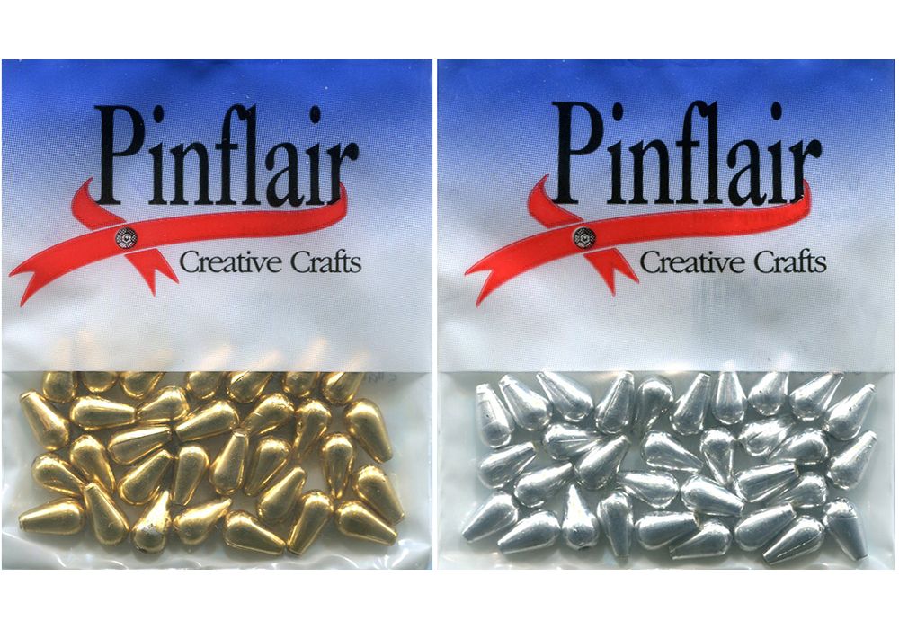 Pinflair Plated Drop Beads, 6mm x 9mm, pk of 30