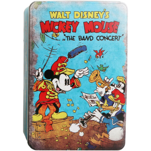Mickey Mouse The Band Concert Metal Tin Storage Box Large