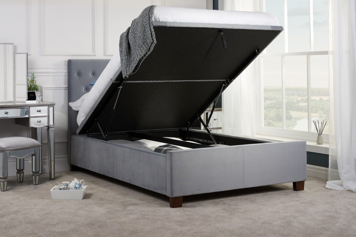 COLOGNE OTTOMAN DOUBLE BED - GREY