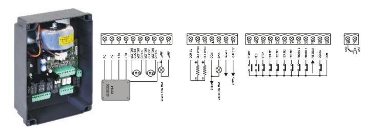 GIBIDI BA24 CONTROL PANEL WIRING