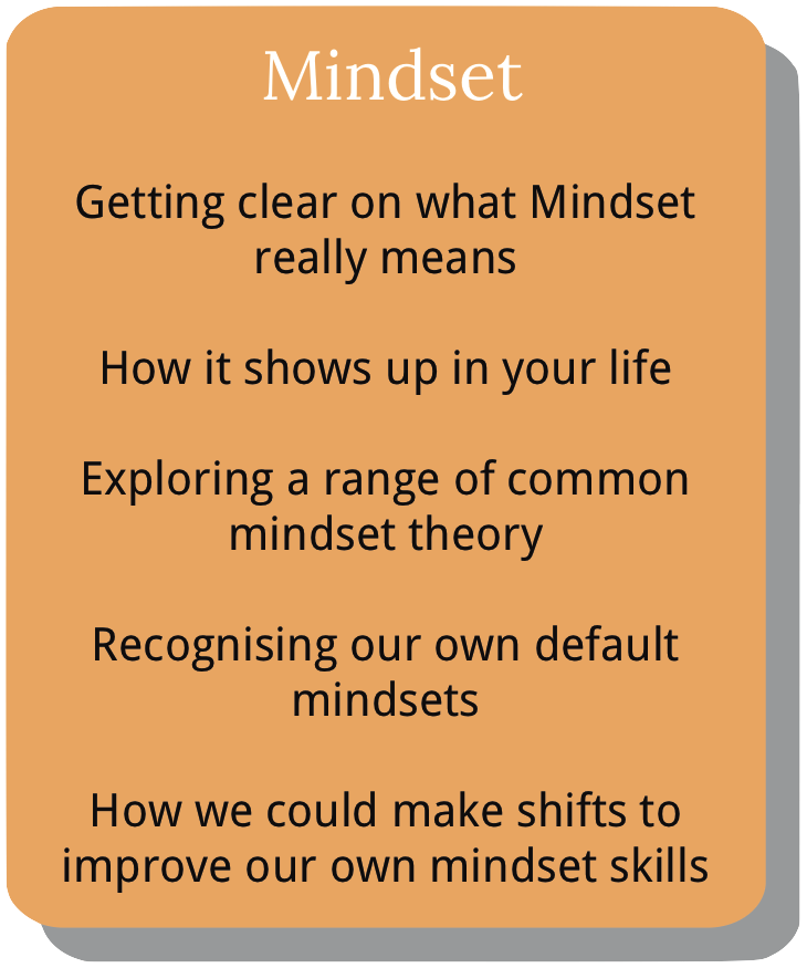 Information about course module 2. Mindset.