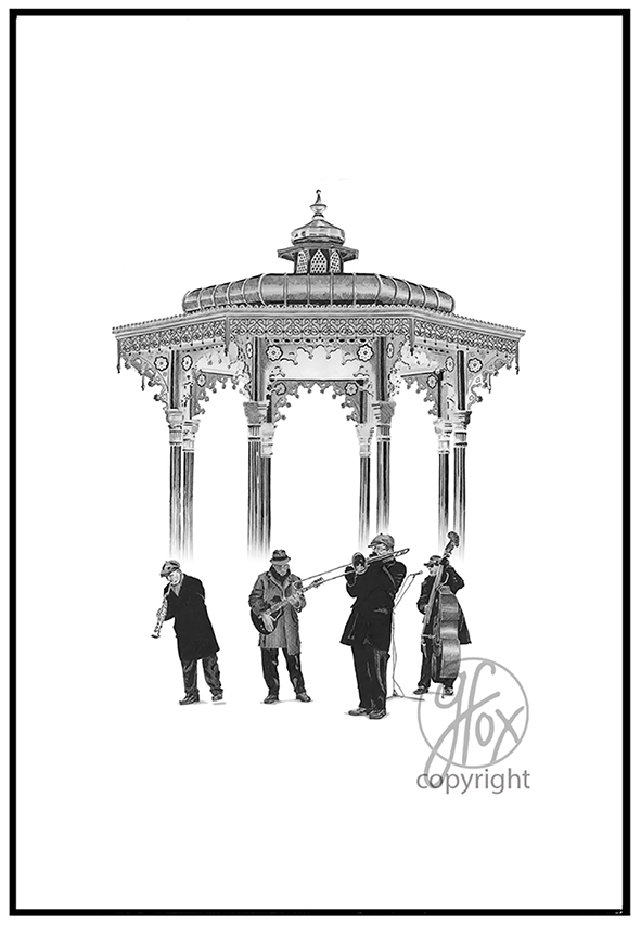 J. 'Band Stand' Signed Print