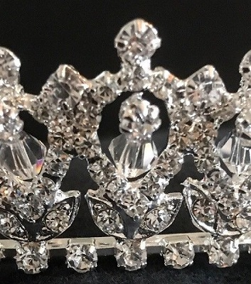 Diamante tiaras - flower wedding tiara