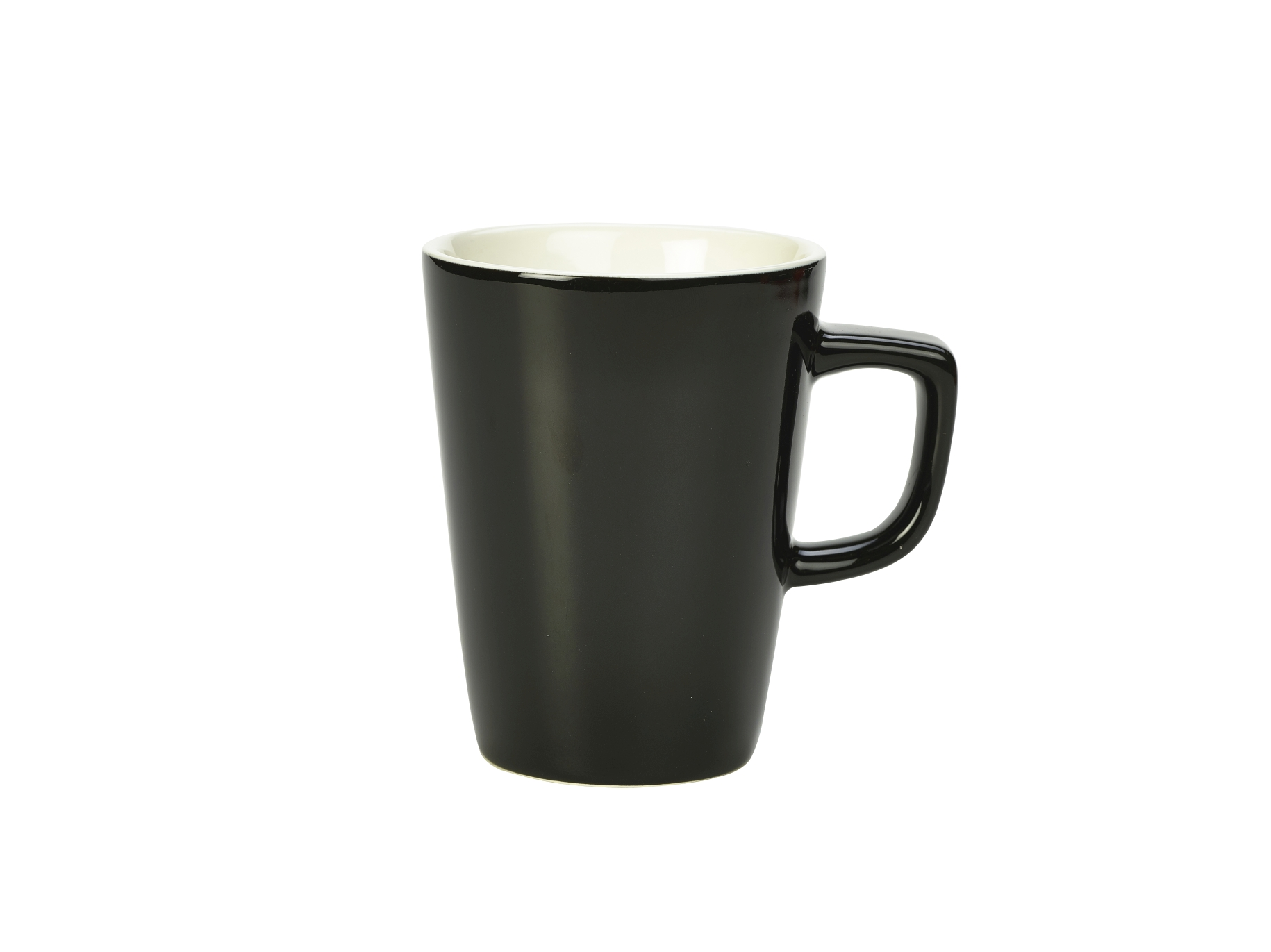 Genware Porcelain Latte Mug 34cl Black