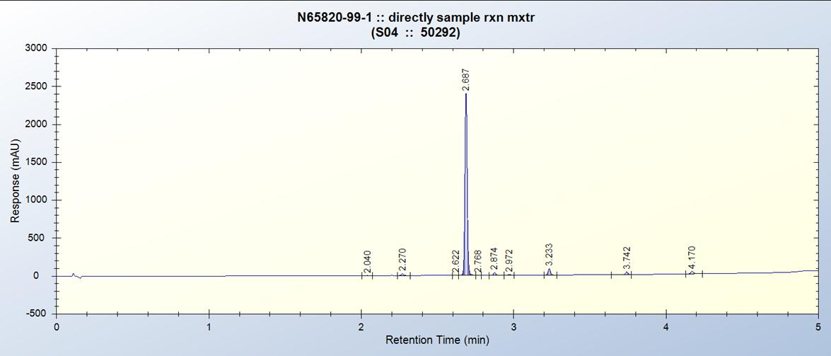 DART-DM7 Flow Reactor Ester Reduction 54min residance Timepng