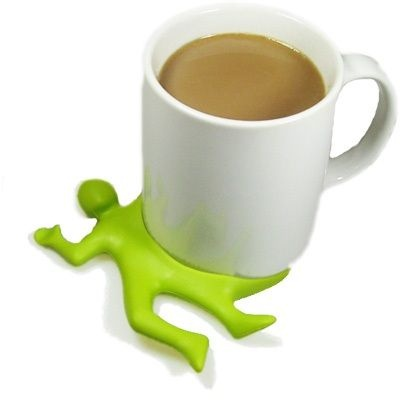 Splat Man! - Silicone Rubber Cup Coaster – LIME GREEN