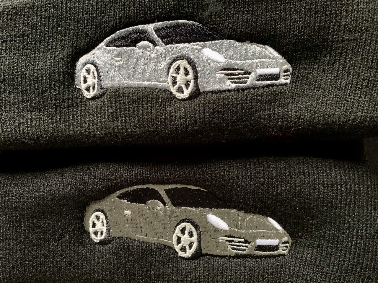 porsche 911 embroidery embroidered clothing jackets hoodies