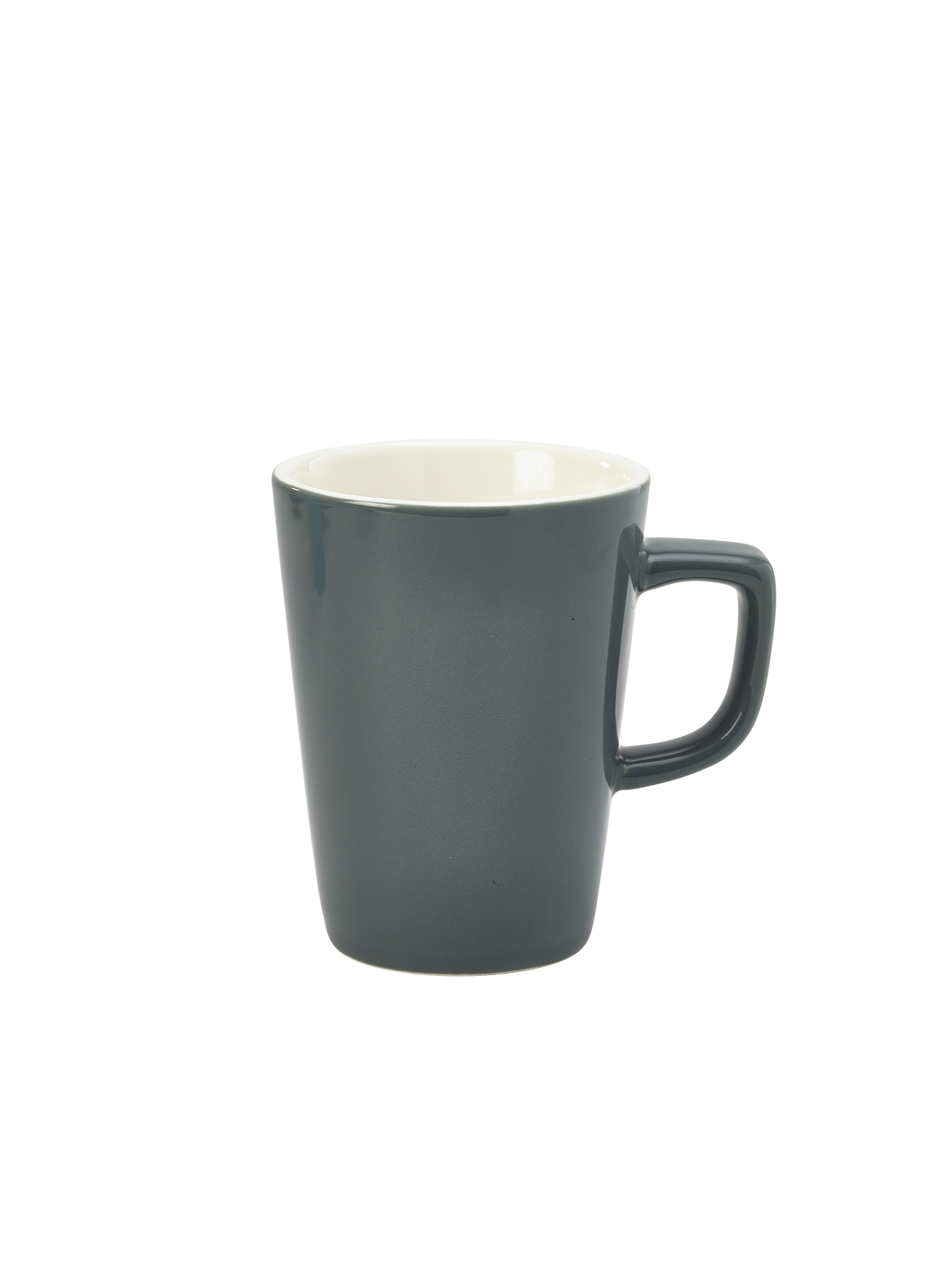 Genware Porcelain Latte Mug 34cl Grey